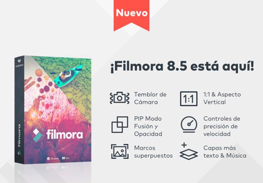Nueva Versión Filmora Video Editor 8.5